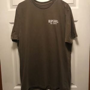 NWOT Rip Curl The Search Tee Shirt Brown Size XL